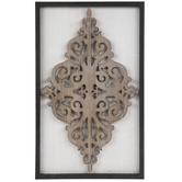 Framed Flourish Wood Wall Decor