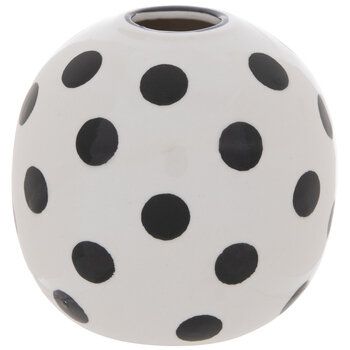 White & Black Polka Dot Vase