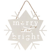 Merry And Bright Snowflake Wood Wall Decor
