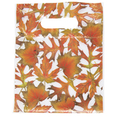 Leaves With Gold Trim Zipper Bags