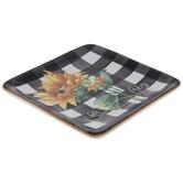 Buffalo Check Sunflower Plate