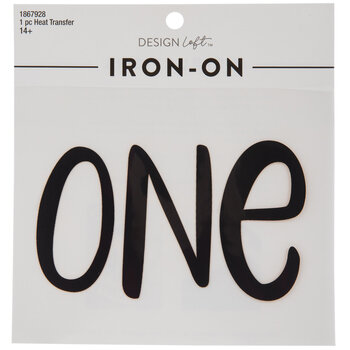 One Iron-On Applique