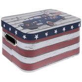 American Flag Rounded Rectangle Box