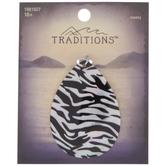 Zebra Print Teardrop Shell Pendant