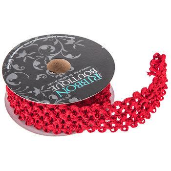 "Rad Red Elastic Headband Ribbon - 1 1/2"""