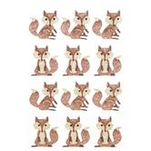 Fox Glitter Stickers