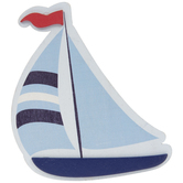 Sailboat Painted Wood Shape