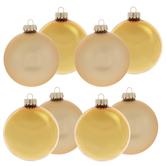 Gold Matte & Shiny Ball Ornaments