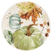 Blue & Green Watercolor Pumpkin Plate