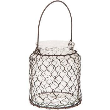 Chicken Wire Glass Jar