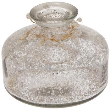 Mercury Glass Vase With Rhinestones