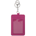 Pink Card Wallet Keychain