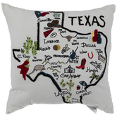 Texas Embroidered Pillow