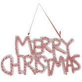 Merry Christmas Peppermint Ornament
