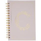 Pink & Gold Foil Letter Journal - C