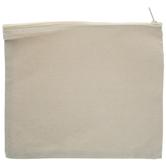 Natural Canvas Zipper Pouch - Large