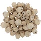 Mixed Geometric Wood Beads
