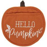 Hello Pumpkin Oven Mitt