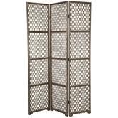 Three-Panel Bamboo Folding Screen