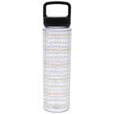 Gold Polka Dot Water Bottle