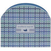 Southern Marsh Plaid Wood Napkin Holder