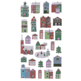 Christmas Village Puffy Stickers