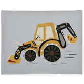 Gray & Yellow Tractor Canvas Wall Decor