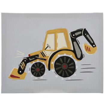 Gray & Yellow Tractor Canvas Wall Decor