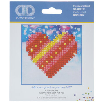 Patchwork Heart Diamond Art Starter Kit
