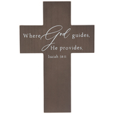 Isaiah 58:11 Wood Wall Cross