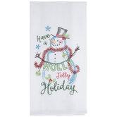 Jolly Holiday Flour Sack Kitchen Towel