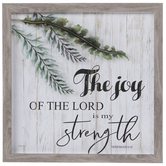 Nehemiah 8:10 Framed Wall Decor