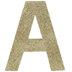 Glitter Wood Letter - A