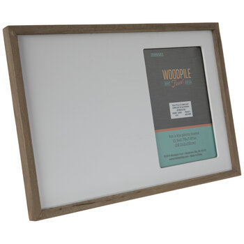 "White & Brown Wood Frame - 4"" x 6"""