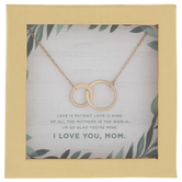 Gold Mother Of The Bride Loop Necklace
