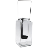Black & Clear Candle Holder