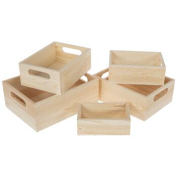 Wood Box With Handles Set Hobby Lobby 919993