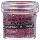 Raspberry Tinsel Embossing Powder