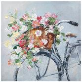 Floral Bike Canvas Wall Decor