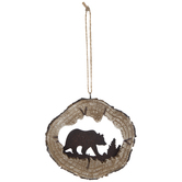 Bear Log Ornament