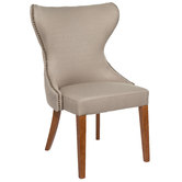 Ivory Tufted Back Chair