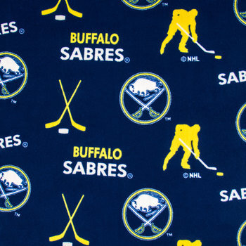 NHL Buffalo Sabres Allover Fleece Fabric