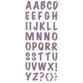 Glitter Alphabet Stickers