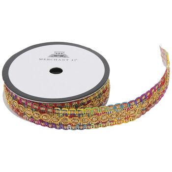 "Rainbow & Metallic Gimp Trim - 5/8"""