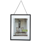"Black Float Wall Frame With Chain - 8"" x 10"""