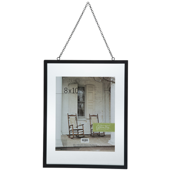"""Black Float Wall Frame With Chain - 8"""" x 10"""""""