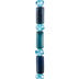 Blue Agate & Glass Bead Strand