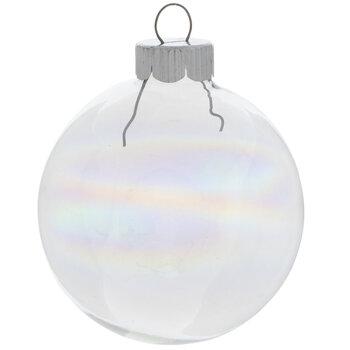 "Iridescent Ball Ornaments - 2 5/8"""