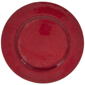 Red Glass Plate Charger