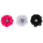 Chiffon Flower Clips